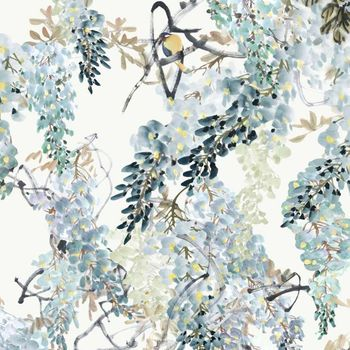 Обои Sanderson | Коллекция Waterperry Wallpapers Wisteria Falls Panel B