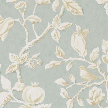 Обои Sanderson | Коллекция Woodland Walk Wallpapers Magnolia and Pomegranate