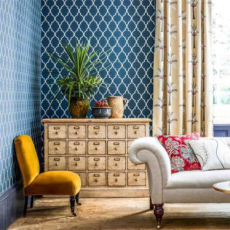 Обои Sanderson | Коллекция Art Of The Garden Wallpapers Empire Trellis