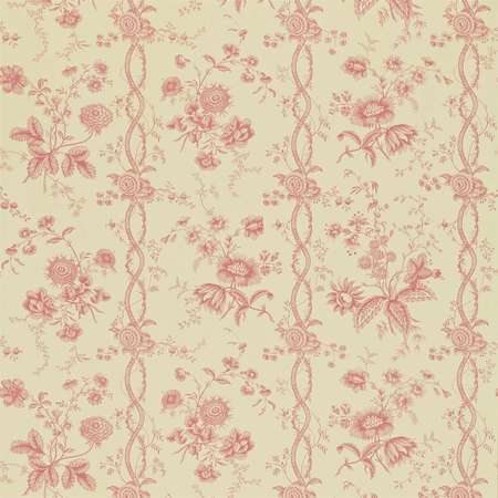 Обои Sanderson | Коллекция Toile Wallpapers Floral Stripe