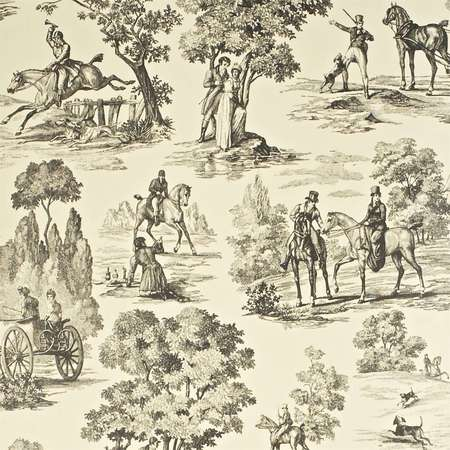 Обои Sanderson | Коллекция Toile Wallpapers Fox Hunting