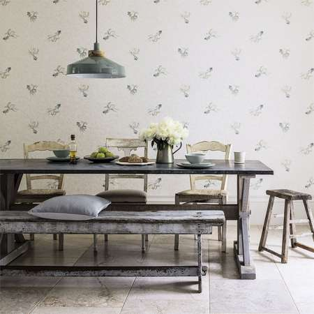 Обои Sanderson | Коллекция Waterperry Wallpapers Fantail