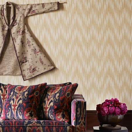 Обои Zoffany | Коллекция Jaipur Wallpapers Antique Flamestitch