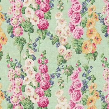 Ткани Sanderson | Коллекция Vintage 2 Prints Hollyhocks