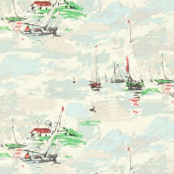 Ткани Sanderson | Коллекция Vintage 2 Prints Sail Away