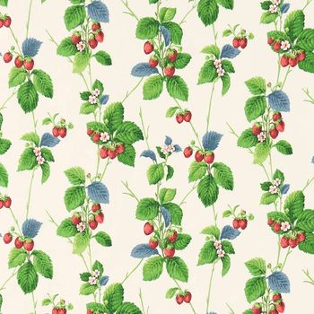 Ткани Sanderson | Коллекция Vintage 2 Prints Summer Strawberries