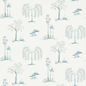 Обои Willow Tree Aqua Ivory 213725