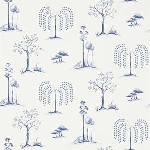 Обои Willow Tree Blue Ivory 213724