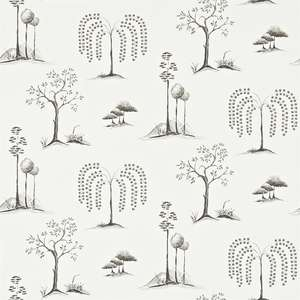 Обои Willow Tree Charcoal Ivory 213723
