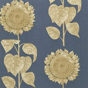Обои Palladio Sunflower Slate Blue Gold DVIWPA103