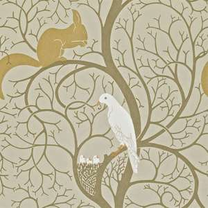 Обои Squirrel and Dove Linen Ivory DVIWSQ101