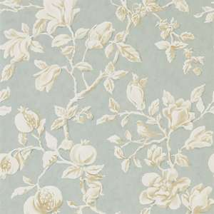 Обои Magnolia and Pomegranate Grey Blue Parchment 215724