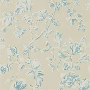 Обои Magnolia and Pomegranate Parchment Sky Blue 215725