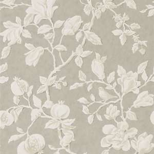 Обои Magnolia and Pomegranate Silver Linen 215722