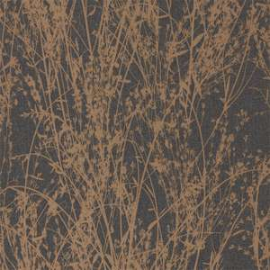 Обои Meadow Canvas Bronze Charcoal 215696