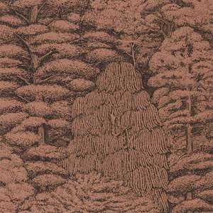 Обои Woodland Toile Copper Charcoal 215719