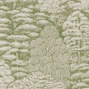 Обои Woodland Toile Cream Green 215720