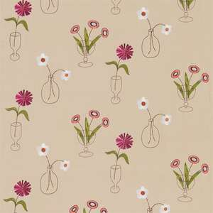Ткань Cut Flowers Fuchsia Linen 230992