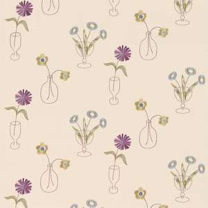Ткань Cut Flowers Mauve Cream 230990