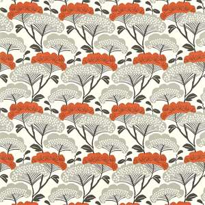 Ткань Tree Tops Charcoal Coral 222709