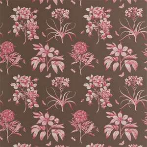 Ткань Etchings and Roses Chocolate Pink DPFPET202