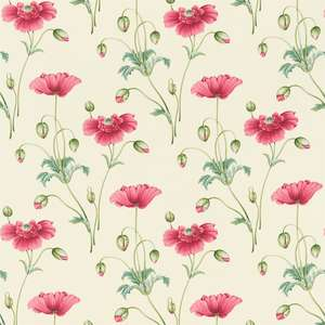 Ткань Persian Poppy Pink Teal DPFPPP203