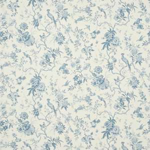Ткань Pillemont Toile Ivory China Blue DPEMPI203