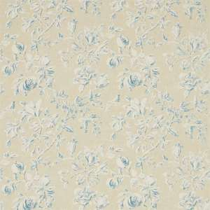 Ткань Magnolia and Pomegranate Parchment Sky Blue 225508