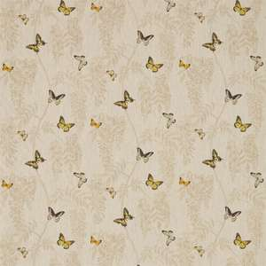 Ткань Wisteria and Butterfly Linen Citrus 225528