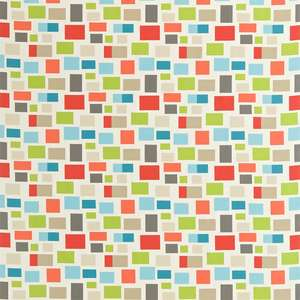 Ткань Blocks Chalk Neutral Lime Powder Blue and Coral 120078
