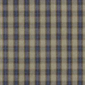 Ткань Malin Plaid Indigo Linen 331053