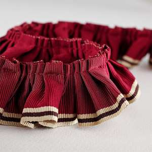 Аксессуары Pleated Ruffle Red Linen 232258